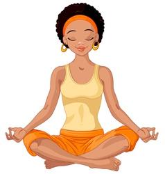 African American Yogi Girl vector image vector image