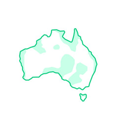 Australia like green continent vector