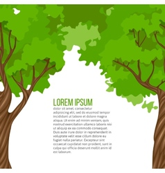 Background with green trees vector image