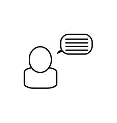 bloger icon vector image vector image