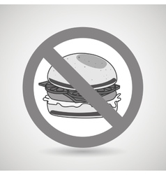 Burger fast food unhealth prohibited vector