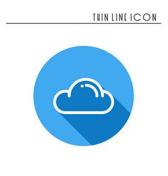 Cloud sky heaven line simple icon weather vector