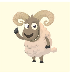 Cute cartoon sheep mascot vector