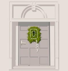 Door decoration vector