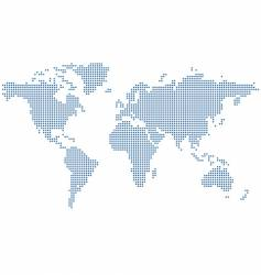 Dots world map vector