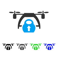 Drone loading flat icon vector