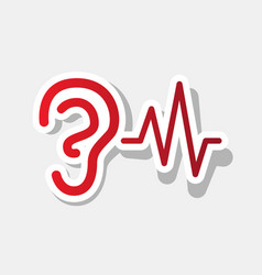 ear hearing sound sign new year reddish vector image vector image