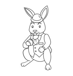 Fairy tale bunny coloring book vector