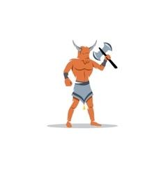 Greek monster Minotaur sign vector image