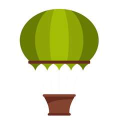 green hot air balloon icon isolated vector image vector image