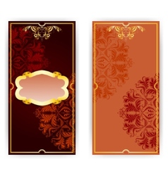 invitation card with frame vector image vector image
