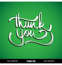 Lettering thank you vector