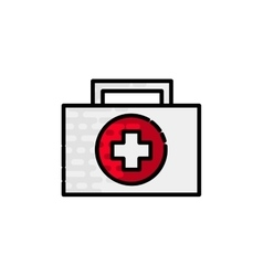 Medical flat icon vector image vector image