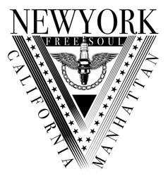 new york sport typography t-shirt graphics vector image