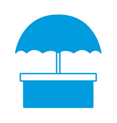 packaging box icon with umbrella symbol shipping vector image vector image