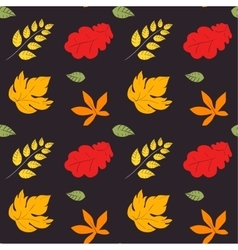 Seamless pattern of yellow autumn vector image