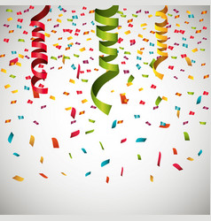 serpentine curling confetti isolated vector image