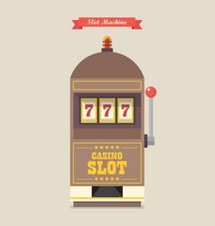 Slot machine gambling casino item vector