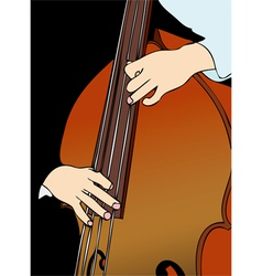The player of contrabass vector