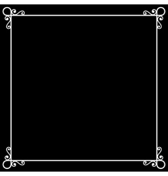 Vintage frame on chalkboard retro background for vector