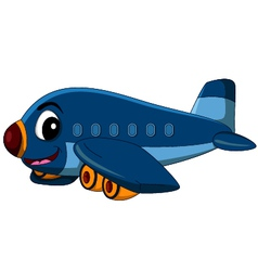 Cartoon airplane flying vector