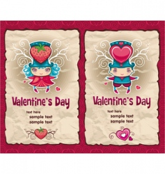 valentines banners vector image