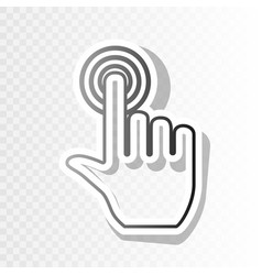 Hand click on button  new year blackish vector
