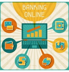 Banking online infographic vector