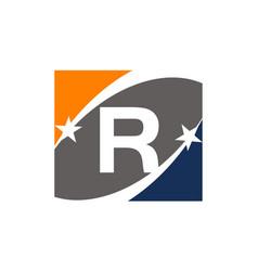 Success solution letter r vector