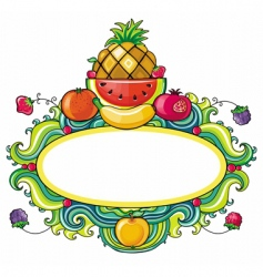 Tropical fruit framework vector