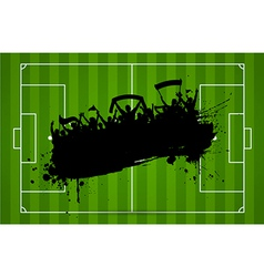Football or soccer background with grunge vector image