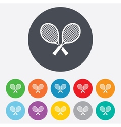 Tennis rackets sign icon sport symbol vector