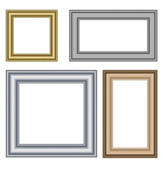 Four multicolored frames isolated on white vector