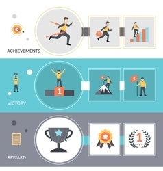 Success banners set vector