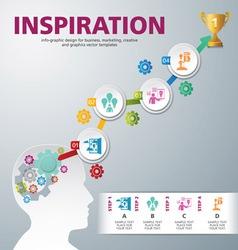 Template modern info graphic design vector