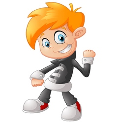 Cute little boy cartoon vector