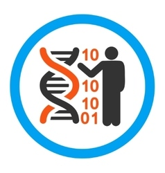 Dna code report rounded icon vector