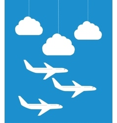 Airplane and travels vector