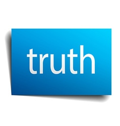 Truth blue paper sign isolated on white vector
