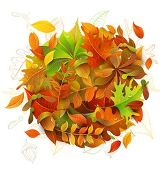 Bright Autumn Background vector image