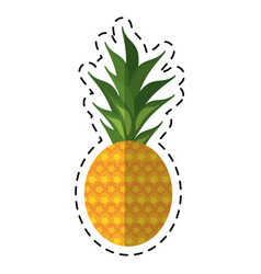 cartoon sweet pineapple tropical fruit icon vector image vector image