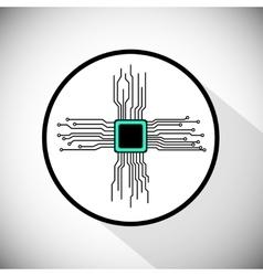 Circuit board cpu vector image vector image