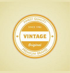 colorful vintage hipster logo design template vector image