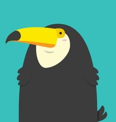cute big fat Toucan bird vector image