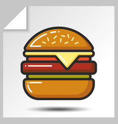 Fast food icons 3 vector