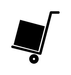 Handcart with box vector