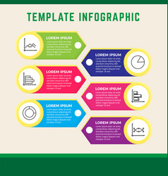 Infographic template for presentation and business vector