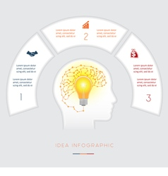 Infographics template three positions vector
