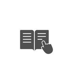 instruction book simple icon education symbol vector image vector image