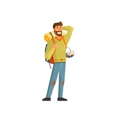 Male Bacpacker Tourist vector image vector image